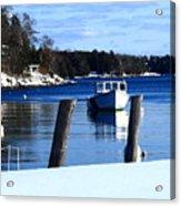 Rockport Blue Acrylic Print