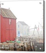 Rockport Fog Acrylic Print