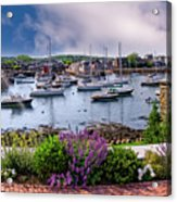 Rockport In Bloom Acrylic Print