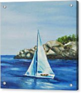 Rockport Sails Acrylic Print