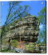 Rocks Along The Roadway Acrylic Print