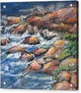 Rocks Along The Shore Acrylic Print