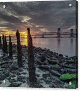 Rocks And Bridge Acrylic Print