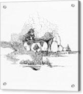 Rocks And Bubbles Acrylic Print