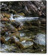 Rocks And Little Water Acrylic Print