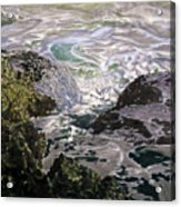Rocks And Sea Foam Acrylic Print