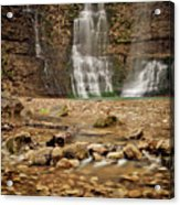 Rocks And Waterfalls Acrylic Print by Iris Greenwell