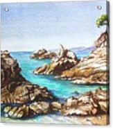 Rocks At Kalamaki Acrylic Print