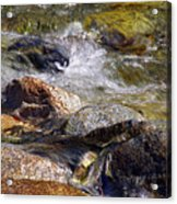 Rocks In A Stream 2a Acrylic Print