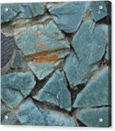 Rocks In A Wall Acrylic Print