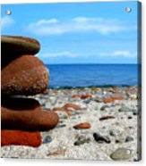Rocks On The Beach Acrylic Print