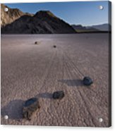 Rocks On The Racetrack Death Valley Acrylic Print