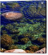 Rocks Ripples And Reflections Acrylic Print