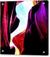 Rocks, Sunlight And Magical Colors Acrylic Print