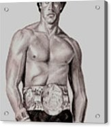 Rocky 3 Acrylic Print by Michael Mestas