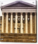 Rocky Balboa On The Art Museum Steps Acrylic Print
