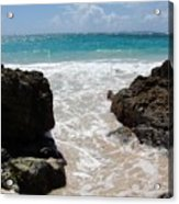 Rocky Beach In The Caribbean Acrylic Print