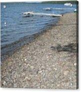 Rocky Beach On A Lake Acrylic Print