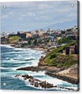 Rocky Coast Of Puerto Rico Acrylic Print