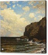 Rocky Coast With Breaking Wave Acrylic Print