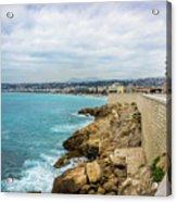 Rocky Coastline In Nice, France Acrylic Print