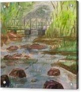 Rocky Creek In The Catskills  Acrylic Print