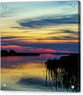 Rocky Creek Sunset Acrylic Print