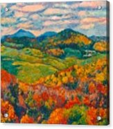 Rocky Knob In Fall Acrylic Print