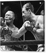 Rocky Marciano Landing A Punch Acrylic Print