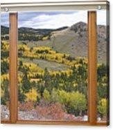 Rocky Mountain Autumn Picture Window View Acrylic Print