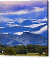 Rocky Mountain Cloud Layers Acrylic Print