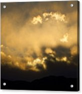 Rocky Mountain Continental Divide Sunset Acrylic Print