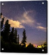 Rocky Mountain Falling Star Acrylic Print
