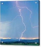 Rocky Mountain Front Range Foothills Lightning Strikes 1 Acrylic Print