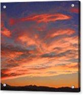 Rocky Mountain Front Range Sunset Acrylic Print