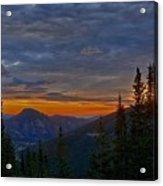 Rocky Mountain High Sunrise Acrylic Print