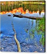 Rocky Mountain Lake Acrylic Print