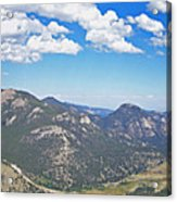 Rocky Mountain National Park Panoramic Acrylic Print
