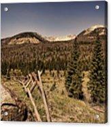 Rocky Mountain National Park Vintage Acrylic Print