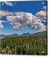 Rocky Mountain Overlook Acrylic Print
