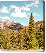 Rocky Mountain Panorama Acrylic Print