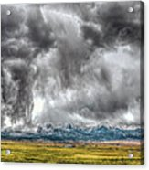 Rocky Mountain Panorama Hdr Acrylic Print
