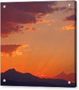 Rocky Mountain Religious Sunset Acrylic Print