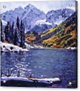 Rocky Mountain Serenity Acrylic Print by David Lloyd Glover