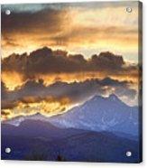 Rocky Mountain Springtime Sunset 3 Acrylic Print