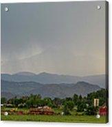 Rocky Mountain Storming Panorama Acrylic Print