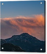 Rocky Mountain Sunset Acrylic Print