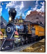 Rocky Mountain Train Acrylic Print