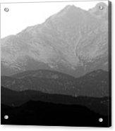 Rocky Mountain Twin Peaks Bw Acrylic Print