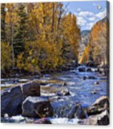 Rocky Mountain Water 8 X 10 Acrylic Print by Kelley King